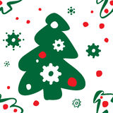 Seamless pattern of christmas trees Stock Images