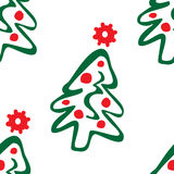 Seamless pattern of christmas trees Stock Photo