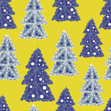 Seamless pattern with Christmas trees Royalty Free Stock Photography