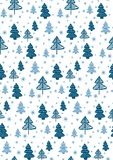 Seamless pattern with Christmas trees. Vector. Seamless pattern with Christmas fir-trees. Vector Royalty Free Stock Images