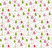 Seamless pattern with Christmas trees. Vector. Seamless pattern with Christmas fir-trees. Vector Royalty Free Stock Photography