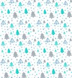 Seamless pattern with Christmas trees. Vector. Seamless pattern with Christmas fir-trees. Vector Stock Photo