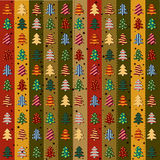 Seamless pattern with Christmas trees Stock Photo