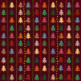 Seamless pattern with Christmas trees Royalty Free Stock Photos