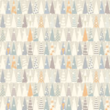 Seamless pattern with Christmas trees.  Vector Stock Photo