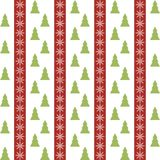 Seamless pattern with christmas trees and Stock Photography