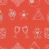 Seamless pattern christmas vector Royalty Free Stock Photos