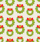 Seamless Pattern with Christmas Wreathes Royalty Free Stock Photo