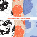 Seamless pattern of chrysanthemum. Seamless floral pattern with flowers of chrysanthemum royalty free illustration
