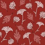 Seamless pattern with chrysanthemums Royalty Free Stock Photos