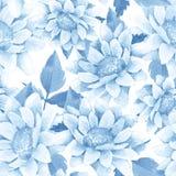 Seamless pattern with chrysanthemums stock illustration