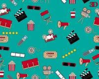 Seamless pattern cinema Stock Photo