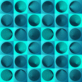Seamless pattern with circle elements stock illustration