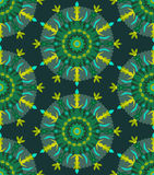 Seamless Pattern with circle grass ornament Stock Photography