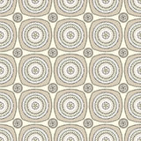 Seamless pattern with circle ornament  in beige Royalty Free Stock Image
