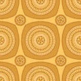 Seamless pattern with circle ornament  in orange Stock Photography