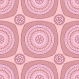 Seamless pattern with circle ornament  in pink lilac Stock Photo