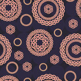 Seamless pattern with circle ornaments Stock Image
