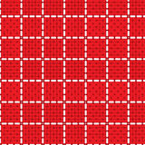Seamless pattern circle rectangle tablecloth Stock Photos