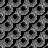 Seamless pattern with circle spiral elements. Stock Images