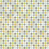 Seamless pattern with circles. Two-layer color geometric pattern Stock Image