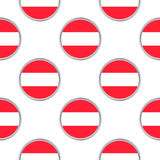 Seamless pattern from the circles with Austria flag royalty free illustration