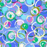 Seamless  pattern, with circles Stock Photos