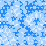 Seamless pattern with circles, bubbles. Aqua, water, sparkling w Stock Image