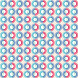 Seamless pattern with circles. Colorful vector background Royalty Free Stock Photos