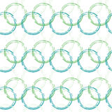 Seamless pattern circles. connected in chain Royalty Free Stock Photos
