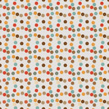 Seamless pattern of circles-diamond retro style Stock Images