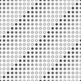 Seamless pattern of circles and dots. Points inside the rings. Stock Photos