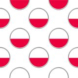 Seamless pattern from the circles with flag of Poland. Vector illustration royalty free illustration
