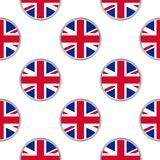 Seamless pattern from circles with flag of the United Kingdom. Vector illustration Royalty Free Illustration