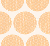 Seamless pattern with circles and hand drawn line pattern Stock Photo