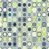 Seamless pattern of circles in hexagons Stock Images