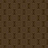 Seamless pattern with circles. Linear seamless pattern with circles and  sinuous lines Royalty Free Stock Photos
