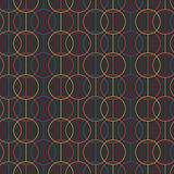 Seamless pattern. Circles and lines. Geometric. Stock Photography