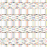 Seamless pattern. Circles and lines. Geometric. Royalty Free Stock Photography
