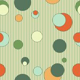 Seamless pattern with circles and lines Stock Photos