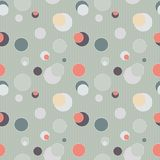 Seamless pattern with circles and lines Stock Image