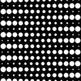 Seamless pattern, circles and lines. Vector monochrome seamless pattern, different sized circles & dots, black & white, horizontal rows. Modern simple endless Royalty Free Illustration