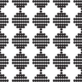Seamless pattern of circles monochrome Royalty Free Stock Photography