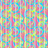 Seamless pattern with circles ornamental background Stock Images