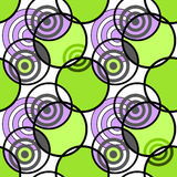 Seamless pattern with circles ornamental elements texture Stock Photo