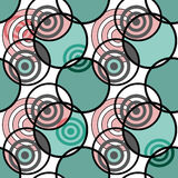 Seamless pattern with circles ornamental elements texture backgr Stock Photo