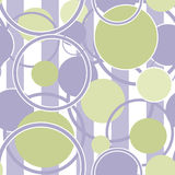 Seamless pattern circles ornamental on striped background Stock Images