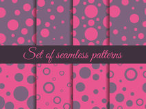Seamless pattern with circles. Pattern with circles and dots. Stains. The pattern for wallpaper, tiles, fabrics and designs. Royalty Free Stock Photo