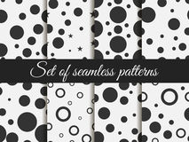 Seamless pattern with circles. Pattern with circles and dots. Stains. The pattern for wallpaper, tiles, fabrics and designs. Stock Image