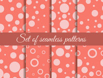 Seamless pattern with circles. Pattern with circles and dots. Stains. The pattern for wallpaper, tiles, fabrics and designs.  Stock Photography